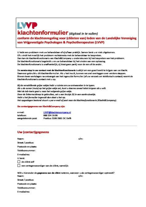 Klachtenformulier-LVVP-digitaal-dec18 - Dorien van Otterloo