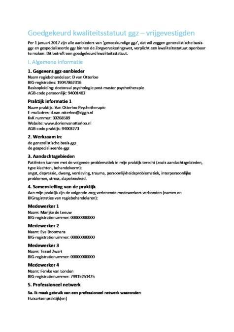 kwaliteitsstatuut alleen lezen-1 - Dorien van Otterloo